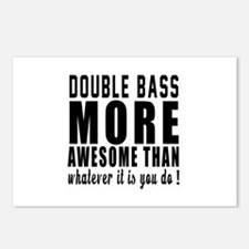 Double bass More Awesome Postcards (Package of 8)