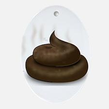 Unique Dog poop Oval Ornament