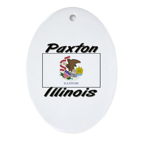 Paxton Illinois Oval Ornament