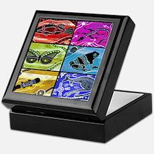 Rainbow Collage Keepsake Box