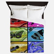 Rainbow Collage Queen Duvet