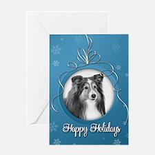 Elegant Sheltie Holiday Card