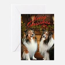 Merry Christmas Shelties Cards (Pk of 10)