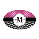 Monogram Oval Car Magnets