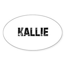 Kallie Oval Decal
