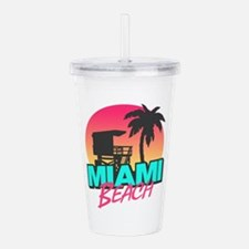 Miami beach Acrylic Double-wall Tumbler
