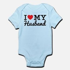 I Love My Husband (Black text) Body Suit