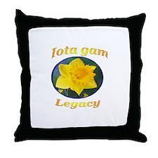 IGU Throw Pillow - Iota Gam Legacy
