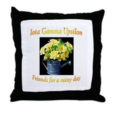 IGU Throw Pillow - Friends for a Rainy Day
