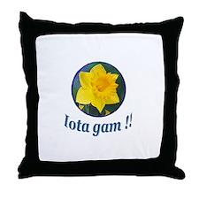 IGU Throw Pillow - Iota Gam!!