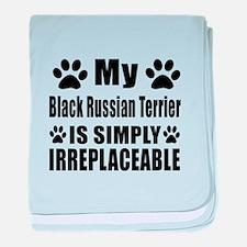 Black Russian Terrier is simply irrep baby blanket