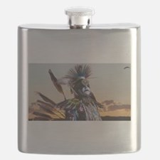 Native American Crow Warrior Flask