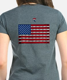 Fly Fishing Red White and Blue Fly T-Shirt
