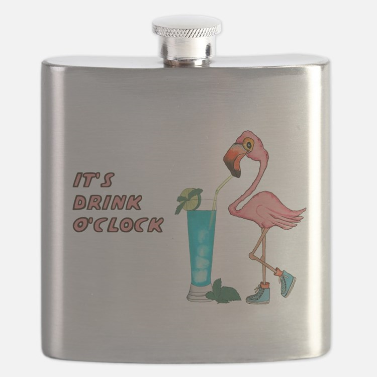 It's Drink O'Clock Flask