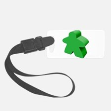 Green Meeple Luggage Tag