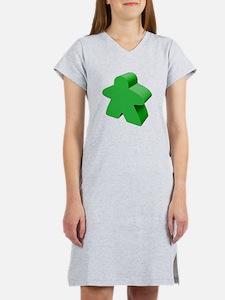 Green Meeple Women's Nightshirt