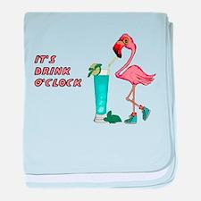 It's Drink O'Clock baby blanket