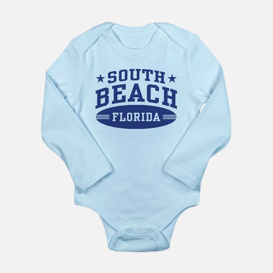 South Beach Florida Long Sleeve Infant Bodysuit