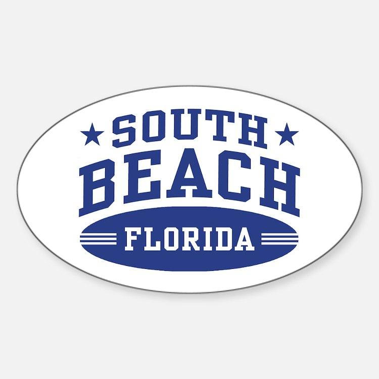 South Beach Florida Sticker (Oval)