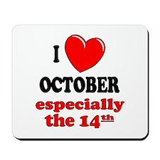 October 14th Mousepad
