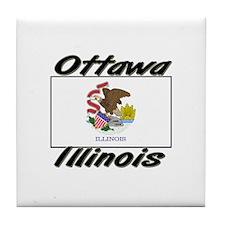 Ottawa Illinois Tile Coaster