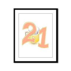 21st Birthday Beer Framed Panel Print