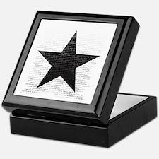 Cute Black star Keepsake Box