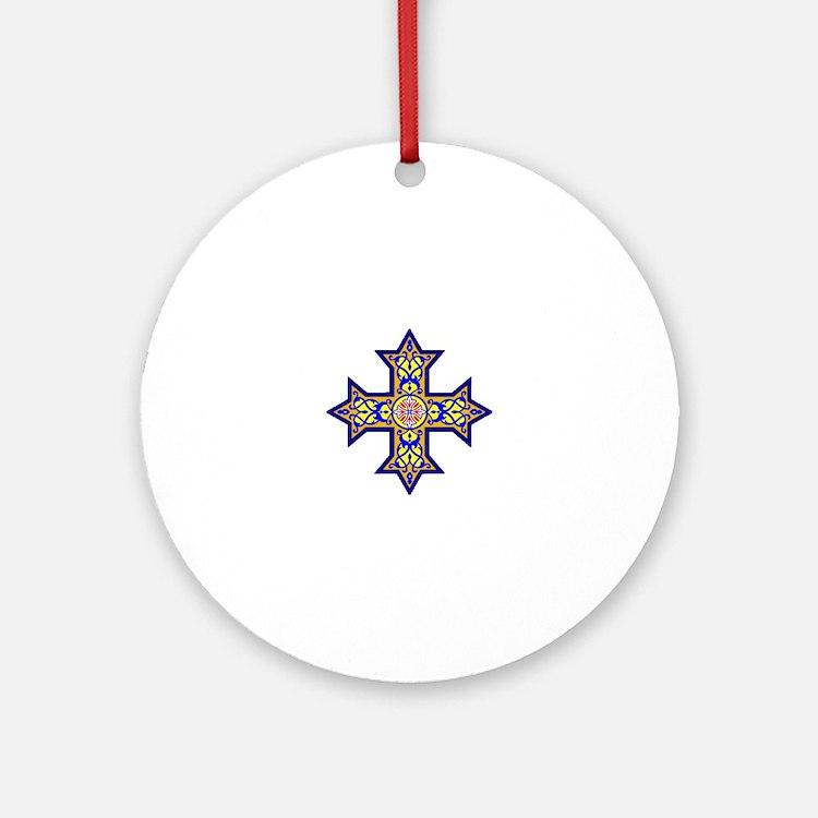 Cute Greek orthodox church Round Ornament
