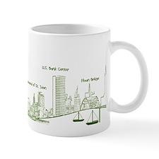 Milwaukee Skyline Green Mugs