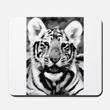 B&W Tiger Drawing Mousepad