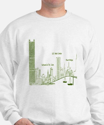 Milwaukee Skyline Green Sweatshirt