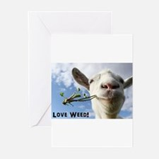 Weed Goat Greeting Cards