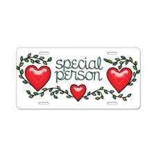 Hearts and Vines Special Pe Aluminum License Plate