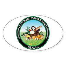 Living Organic Texas Oval Decal
