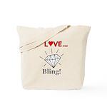 I Love Bling Tote Bag