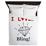 I Love Bling Queen Duvet