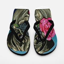 Pug Valentine Flip Flops