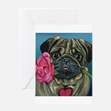 Pug Valentine Greeting Cards