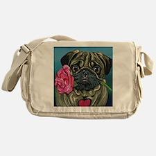 Pug Valentine Messenger Bag
