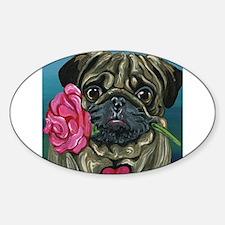 Pug Valentine Decal
