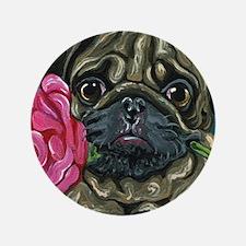 """Pug Valentine 3.5"""" Button (100 pack)"""