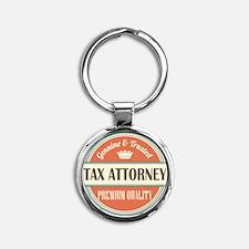 tax attorney vintage logo Round Keychain