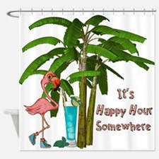 It's Happy Hour Somewhere Shower Curtain