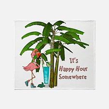 It's Happy Hour Somewhere Throw Blanket