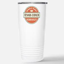 tennis coach vintage lo Stainless Steel Travel Mug