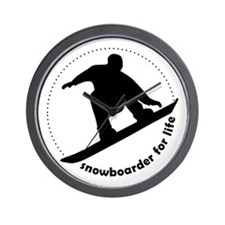 Snowboarder for life Wall Clock