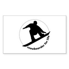 Snowboarder for life Rectangle Decal