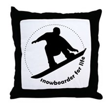 Snowboarder for life Throw Pillow