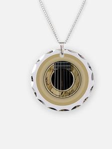 Guitar Round Necklace