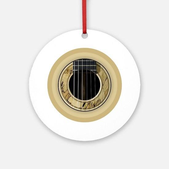 Guitar Round Round Ornament